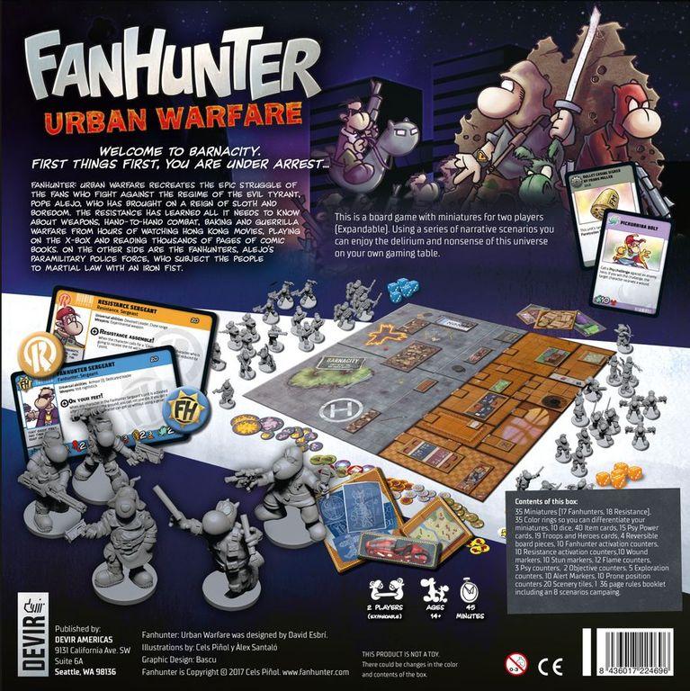 Fanhunter: Urban Warfare back of the box