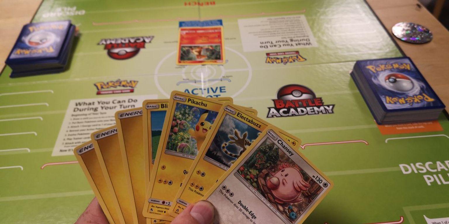 Pokémon Trading Card Game Battle Academy gameplay