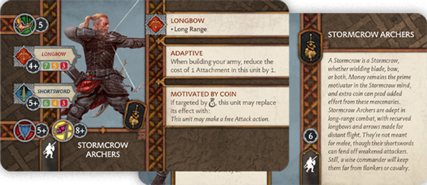 A Song of Ice & Fire: Tabletop Miniatures Game – Neutral Stormcrow Archers cards