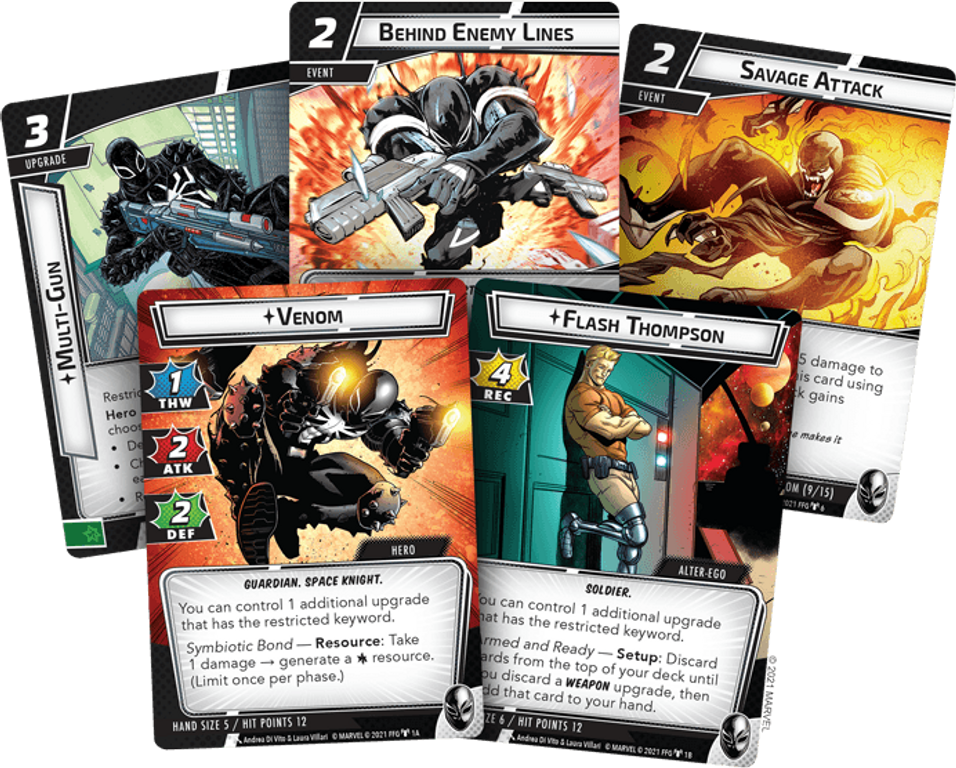 Marvel Champions: The Card Game – Venom Hero Pack cards