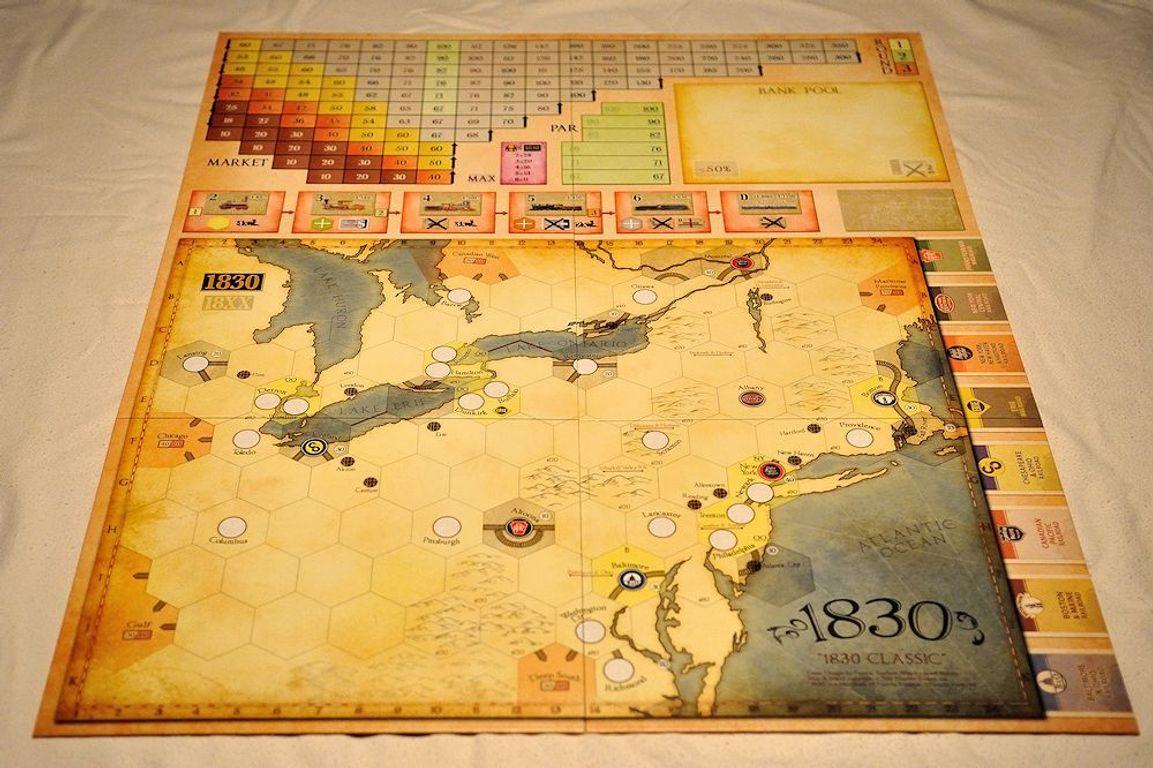 1830: Railways & Robber Barons game board