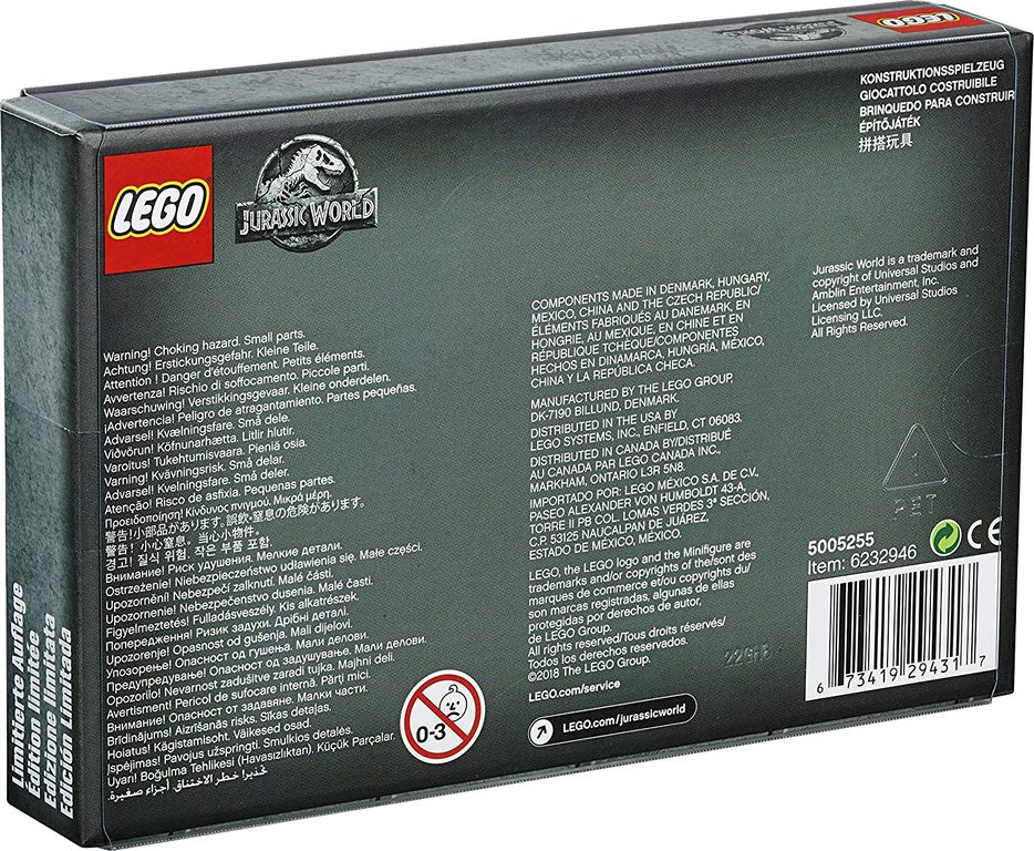 LEGO® Jurassic World Jurassic World Limited Edition Mini Figures Set back of the box