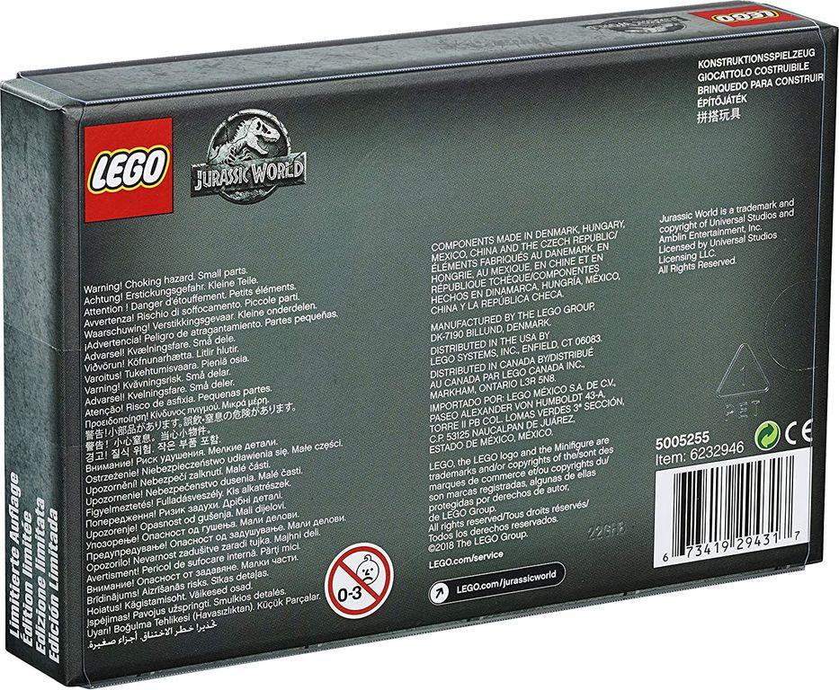 Jurassic World Limited Edition Mini Figures Set back of the box