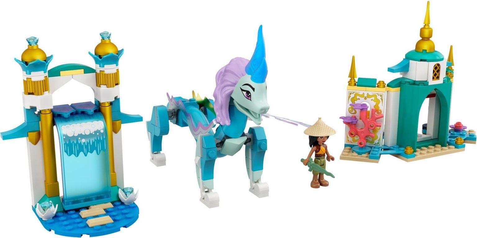 LEGO® Disney Raya and Sisu Dragon components