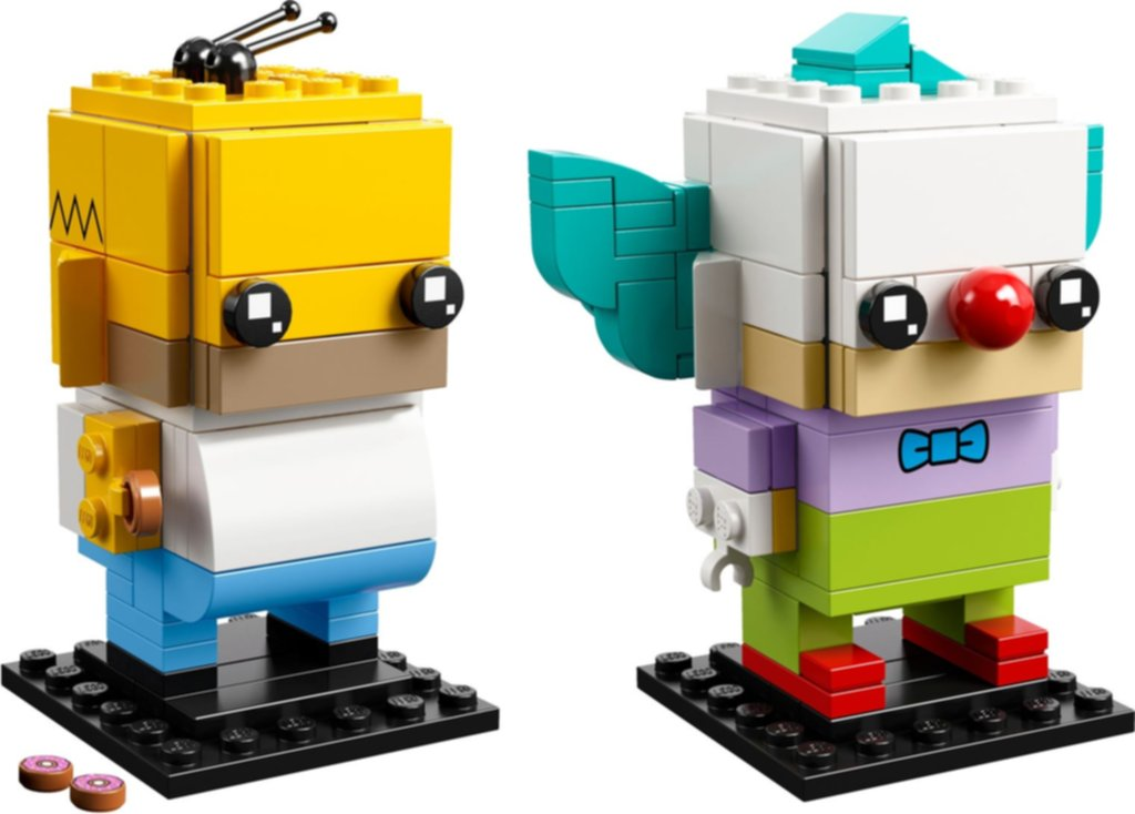 LEGO® BrickHeadz™ Homer Simpson & Krusty the Clown components