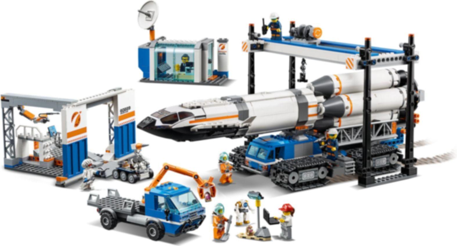 LEGO® City Rocket Assembly & Transport gameplay