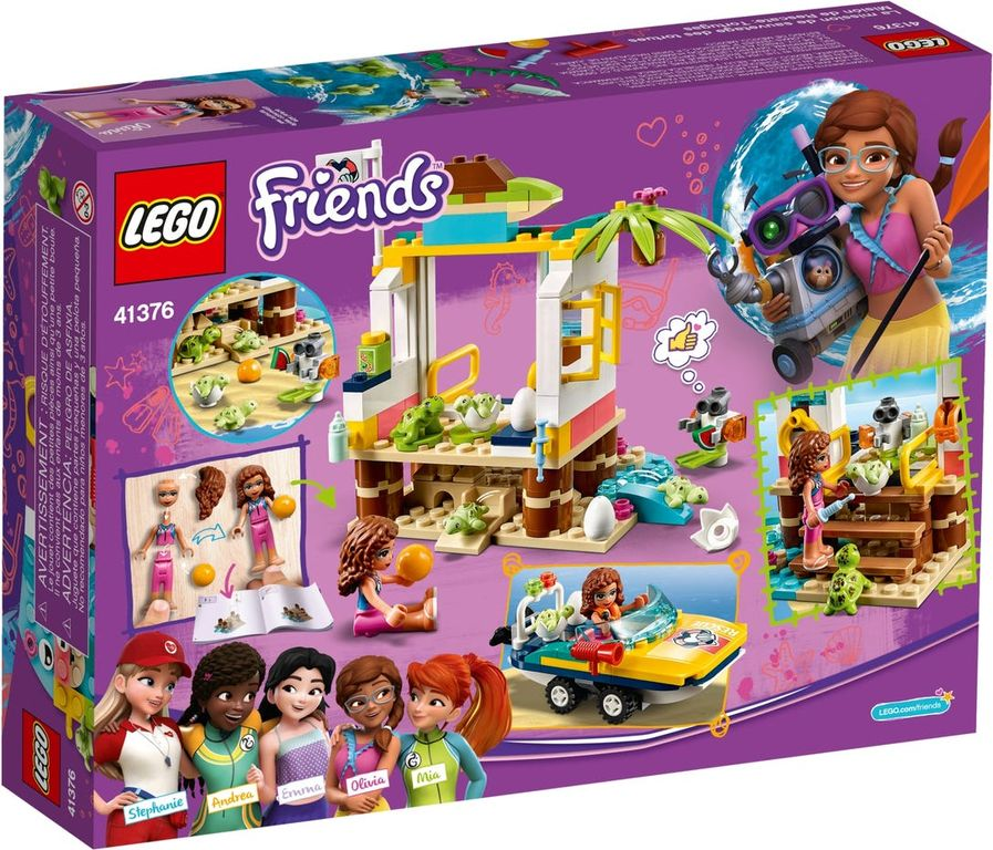 LEGO® Friends Turtles Rescue Mission back of the box