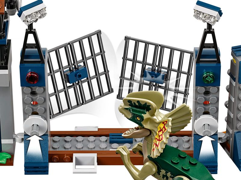 LEGO® Jurassic World Dilophosaurus Outpost Attack components