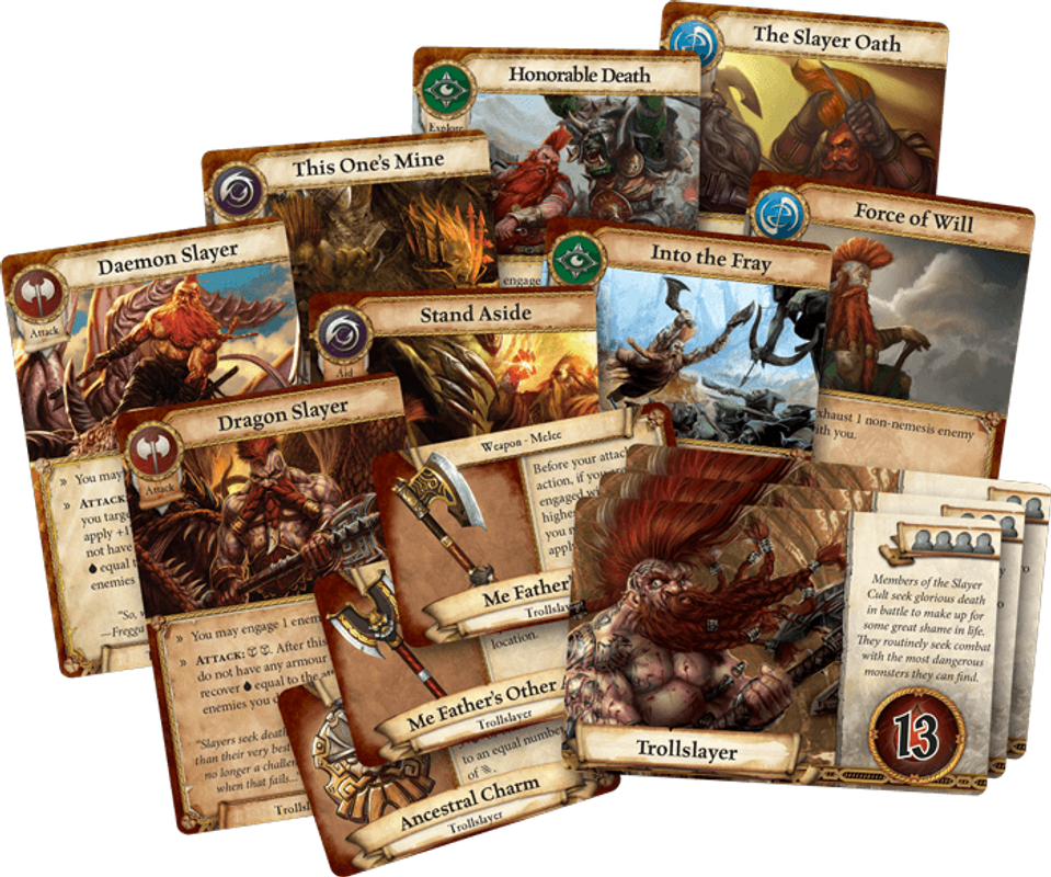 Warhammer Quest: The Adventure Card Game - Trollslayer Expansion Pack cards
