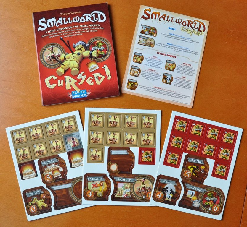 Small World: Cursed! components
