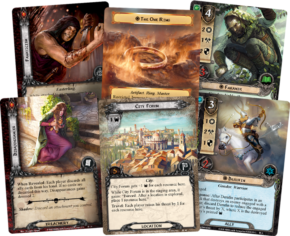 The Lord of the Rings: The Card Game - A Shadow in the East cards
