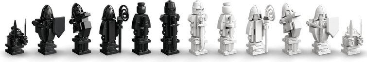 LEGO® Harry Potter™ Hogwarts™ Wizard's Chess components