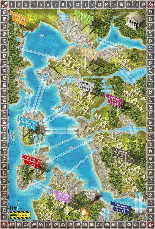 Aftershock: San Francisco & Venice game board