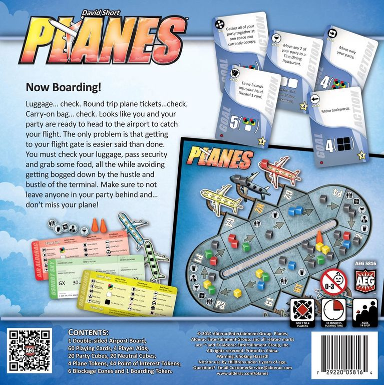 Planes back of the box