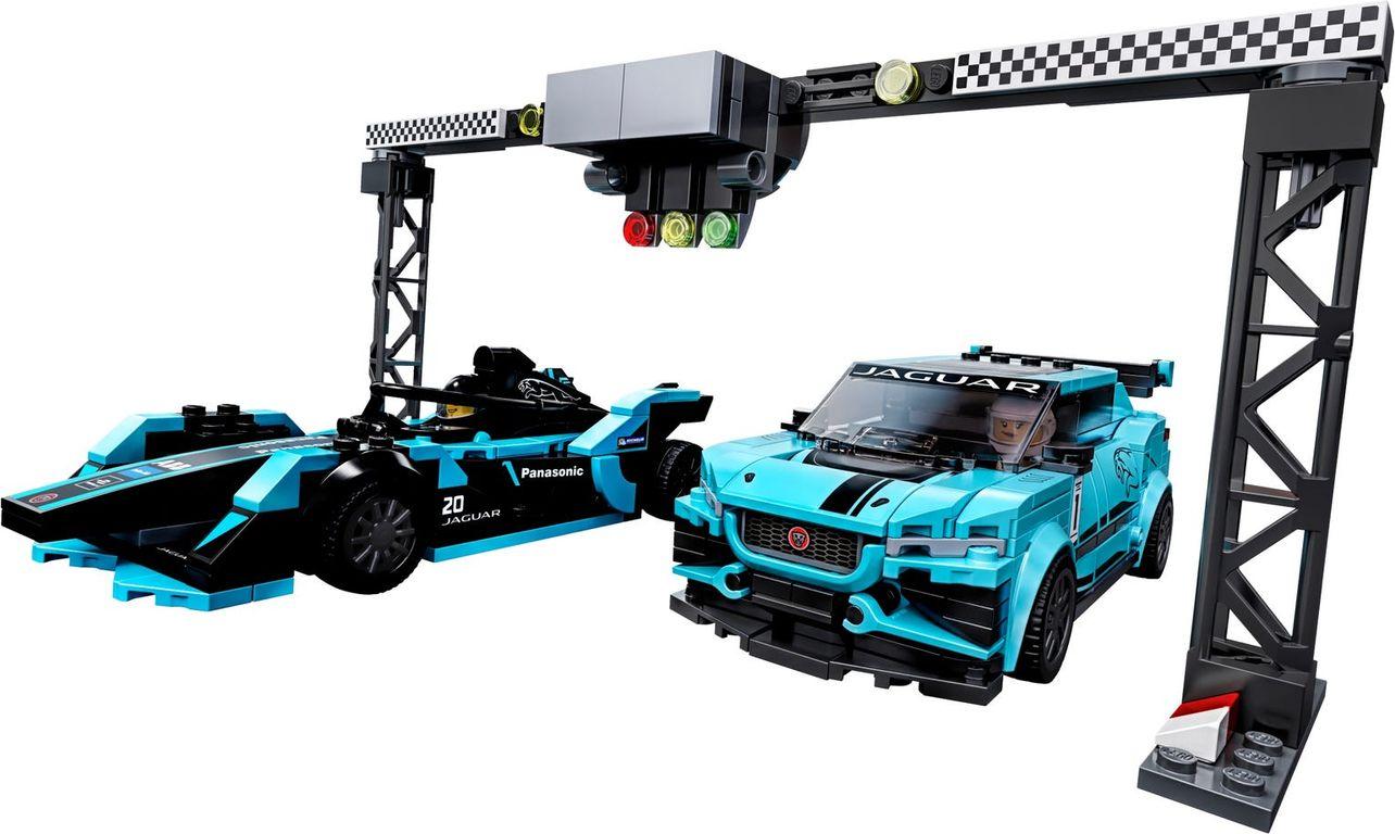 LEGO® Speed Champions Formula E Panasonic Jaguar Racing GEN2 car & Jaguar I-PACE eTROPHY components