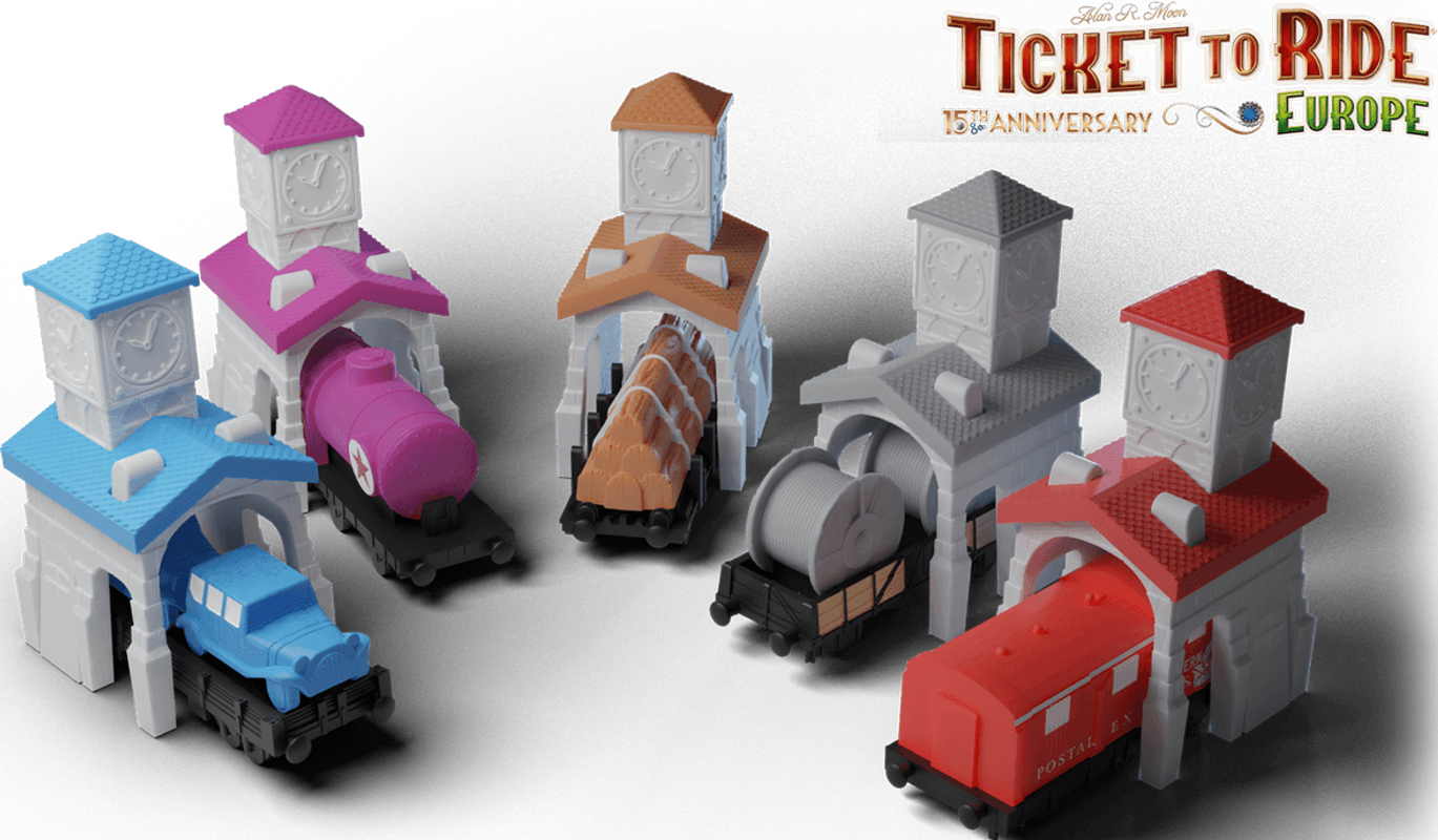 Ticket to Ride: Europe – 15th Anniversary miniatures