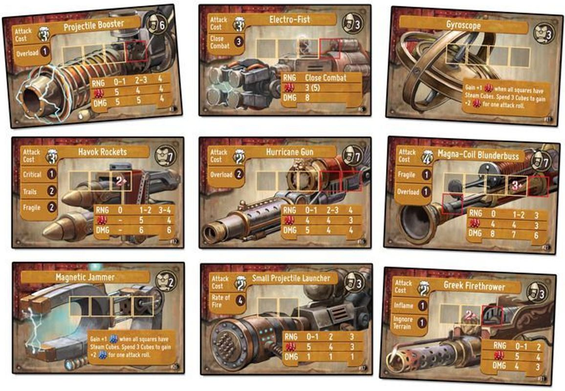 Heavy Steam cards