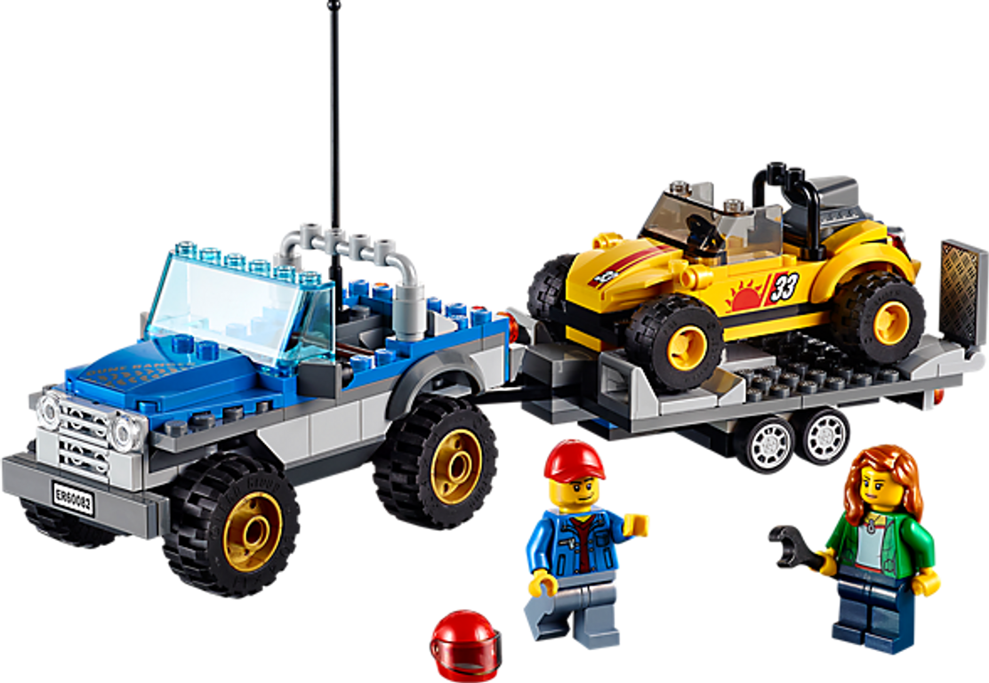 LEGO® City Dune Buggy Trailer components