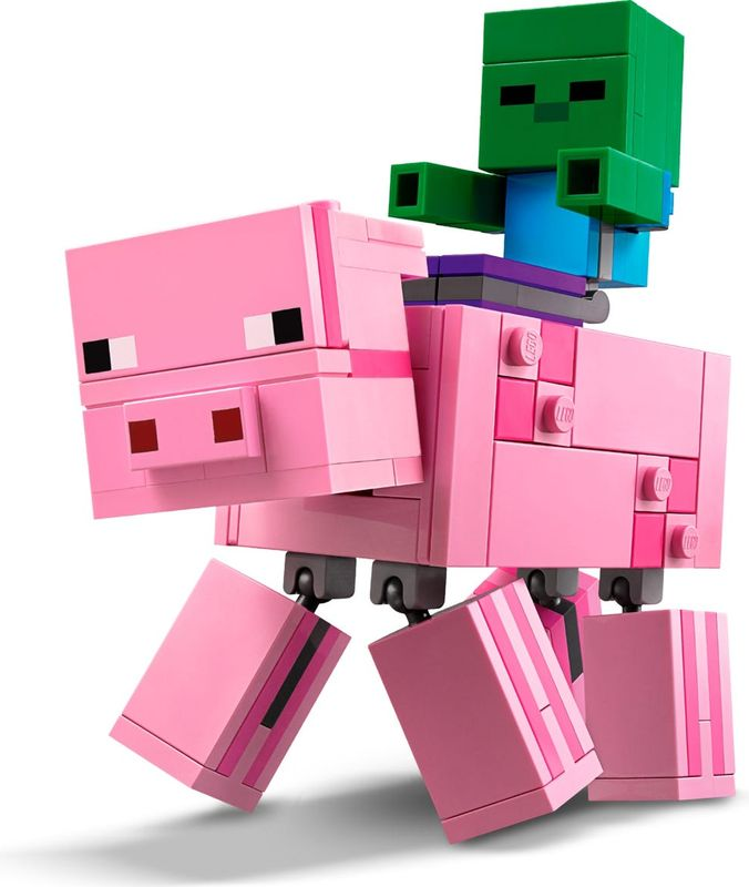 LEGO® Minecraft Bigfig Pig with Zombie baby gameplay