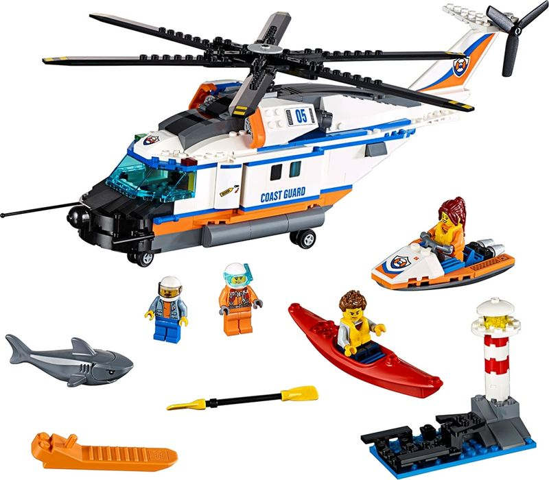 LEGO® City Heavy-duty Rescue Helicopter components