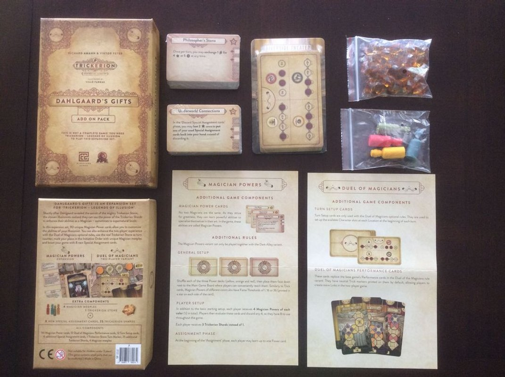 Trickerion: Dahlgaard's Gifts components