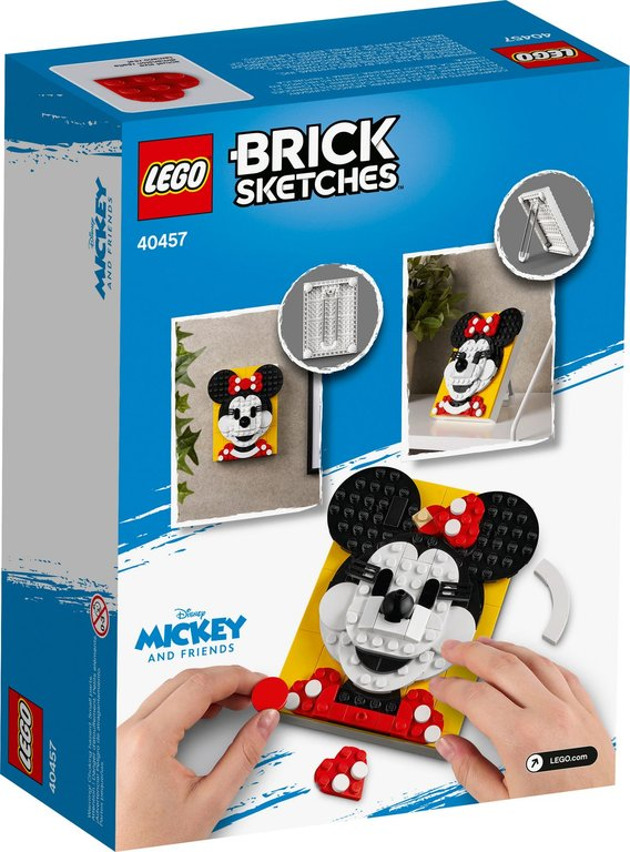 LEGO® Brick Sketches™ Minnie Mouse back of the box