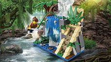 LEGO® City Jungle Exploration Site components