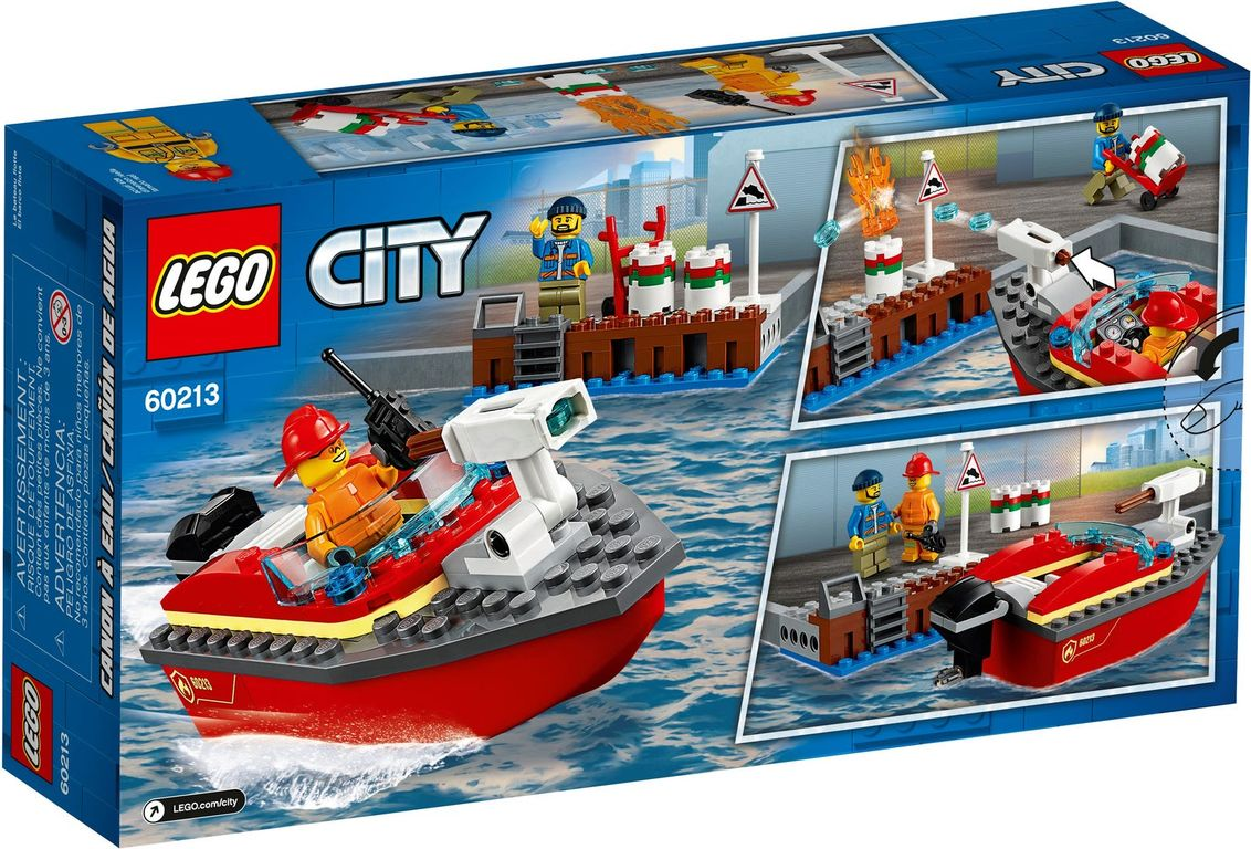 LEGO® City Dock Side Fire back of the box