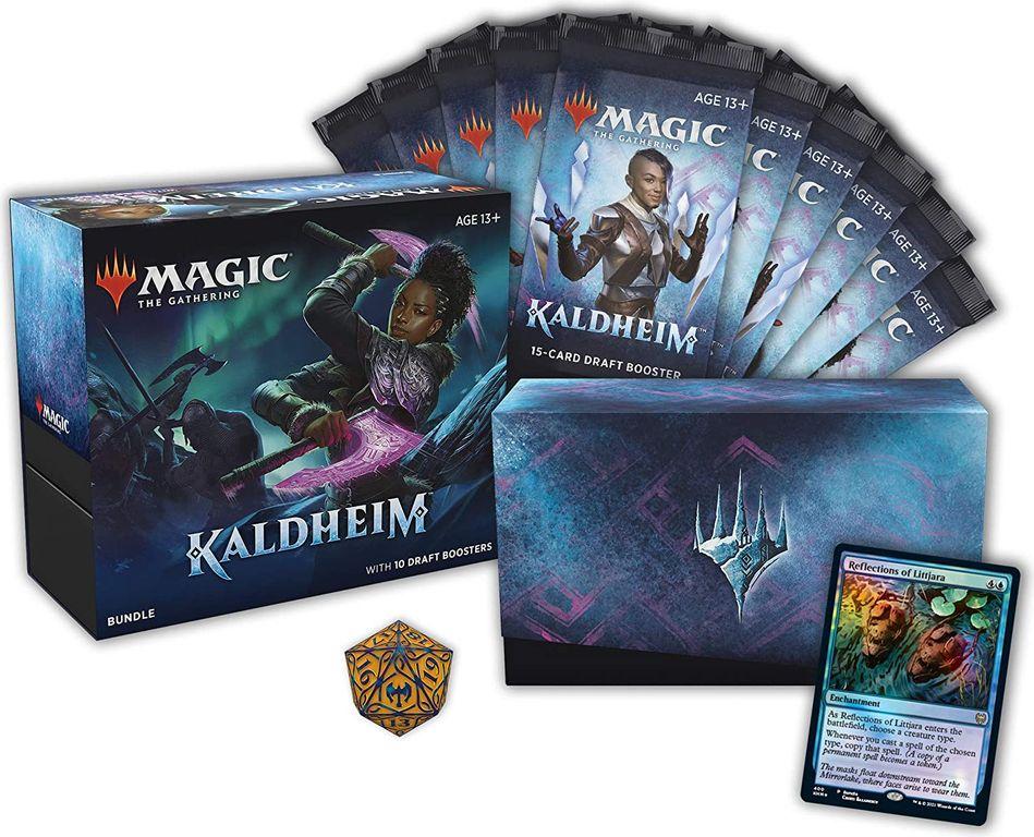 Magic: The Gathering Kaldheim Bundle components