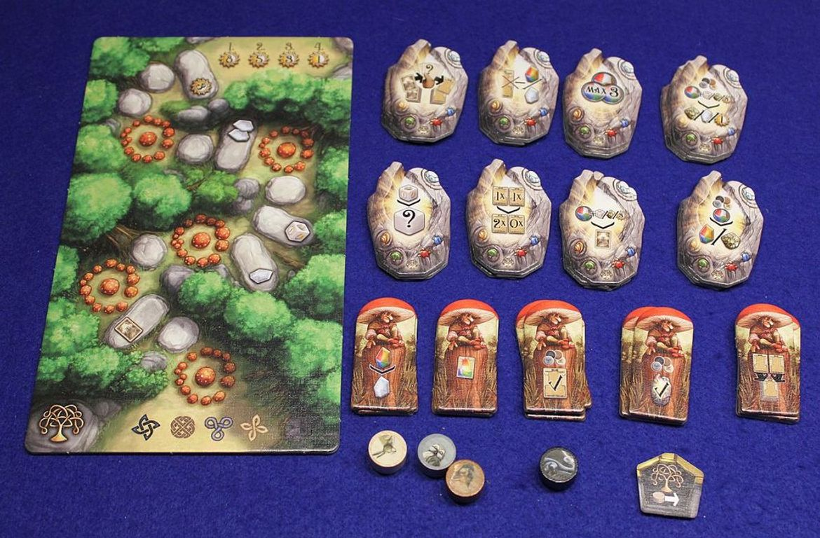 Rune Stones: Enchanted Forest components