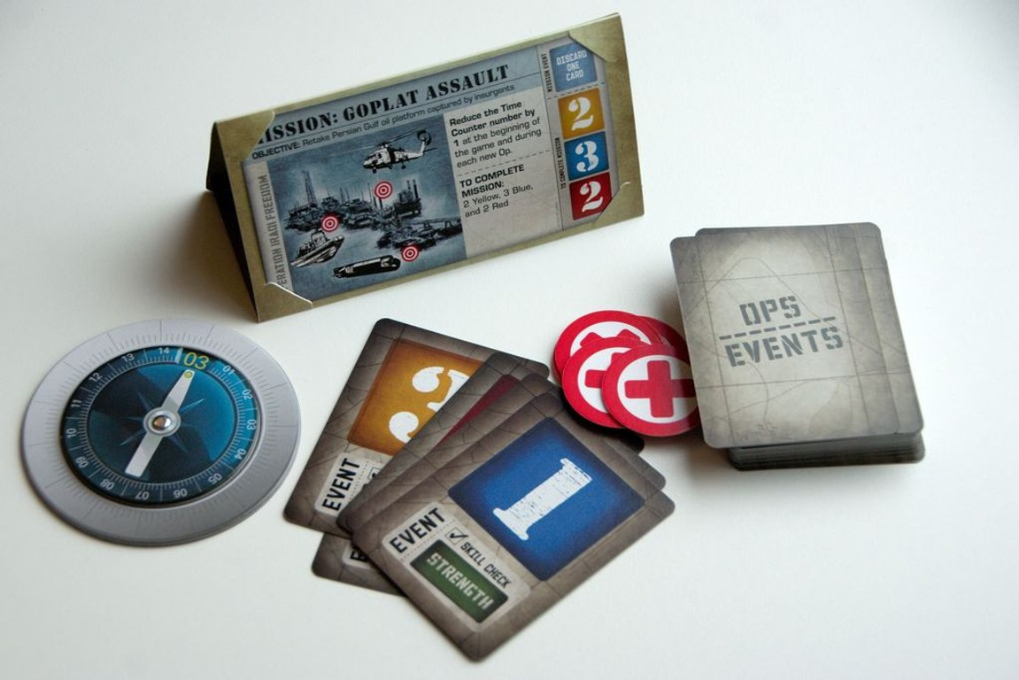 Hooyah: Navy Seals Card Game components