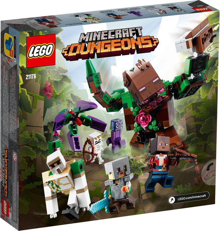LEGO® Minecraft The Jungle Abomination back of the box