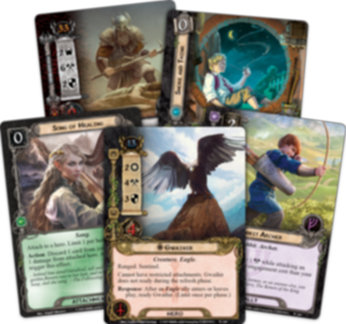 The Lord of the Rings: The Card Game – The Land of Sorrow cards