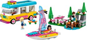 LEGO® Friends Forest Camper Van and Sailboat components