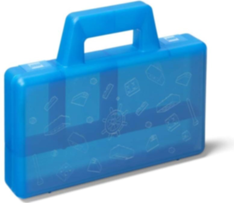 Transparent Blue Sorting Case To Go box