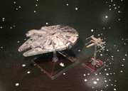 Star Wars: X-Wing Miniatures Game - Millennium Falcon Expansion Pack gameplay