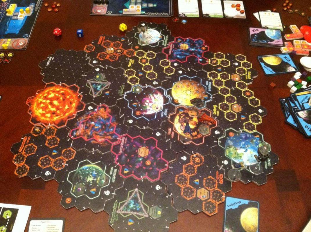 Xia: Legends of a Drift System game board