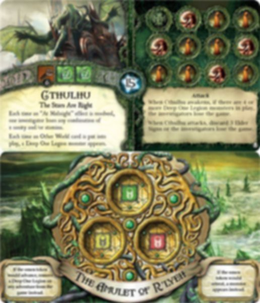 Elder Sign: Omens of the Deep components