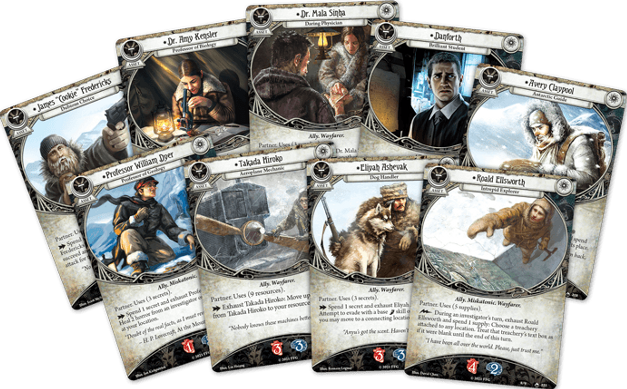 Arkham Horror: The Card Game – Edge of the Earth: Campaign Expansion cards