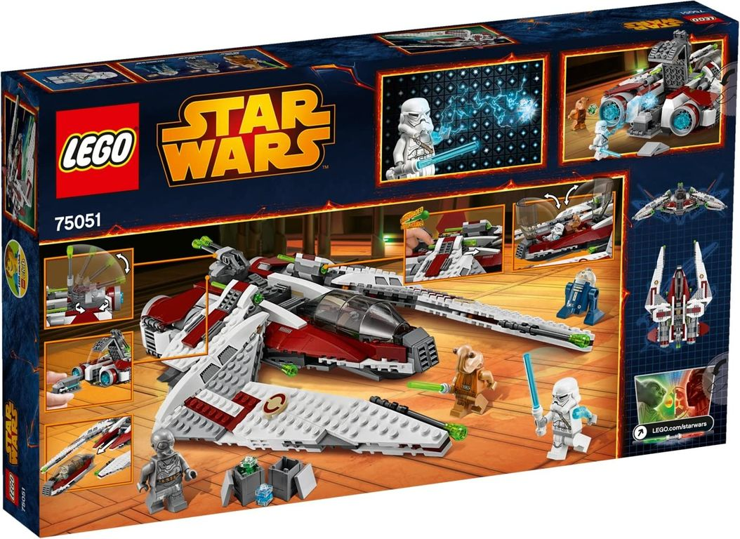 LEGO® Star Wars Jedi Scout Fighter back of the box
