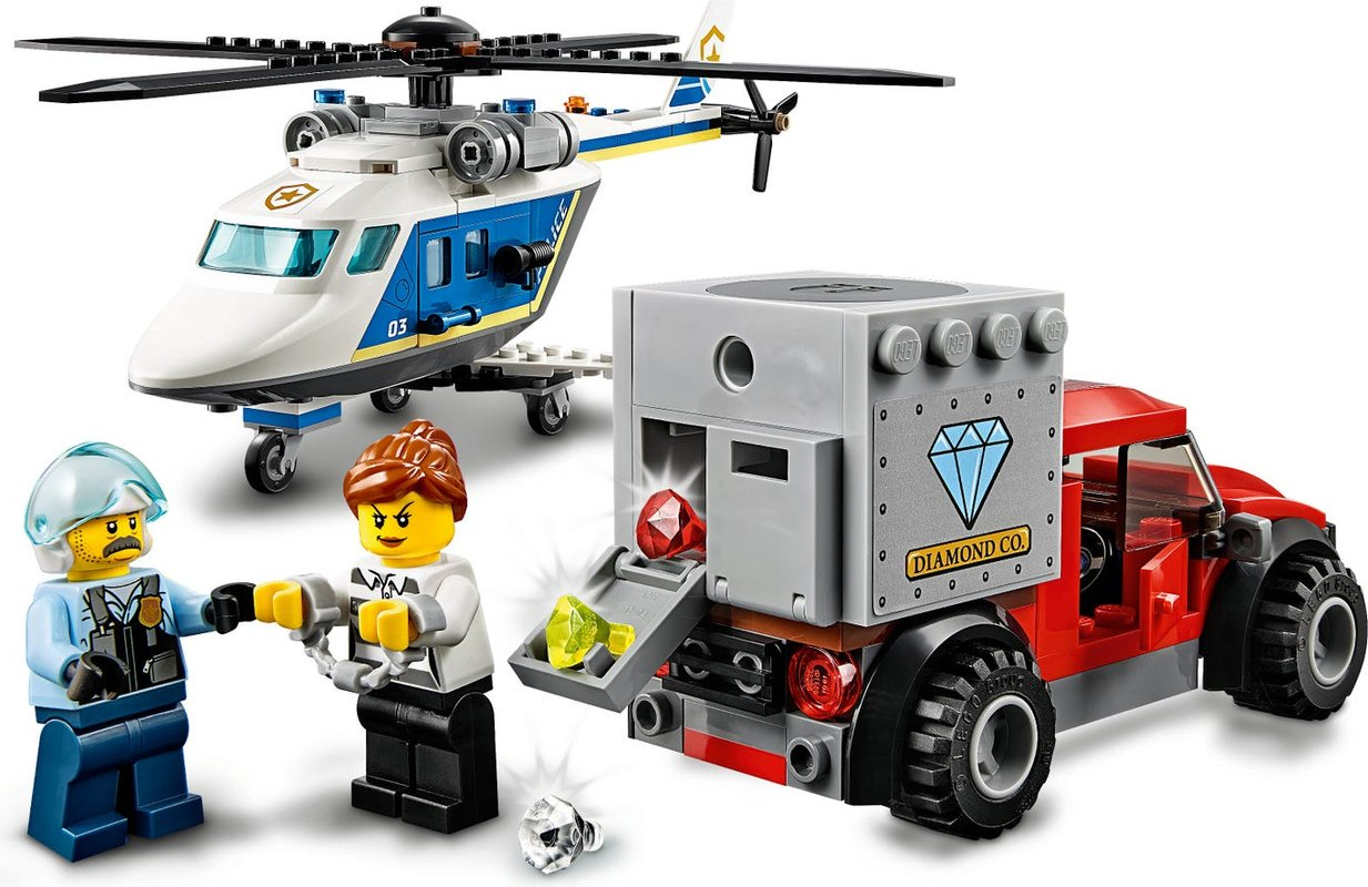Police Helicopter Chase minifigures