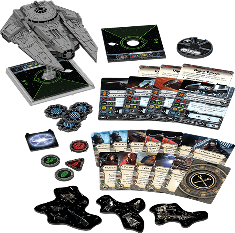 Star Wars: X-Wing Miniatures Game - VT-49 Decimator Expansion Pack components