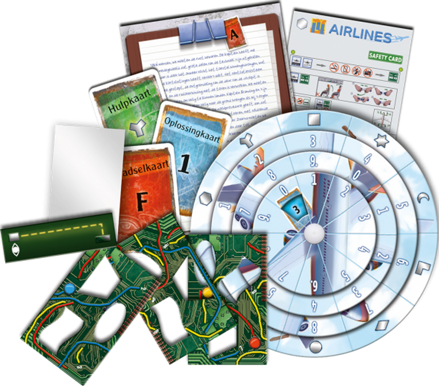 Exit: The Game - The Stormy Flight components