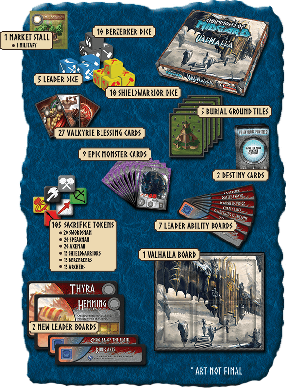 Champions of Midgard: Valhalla components