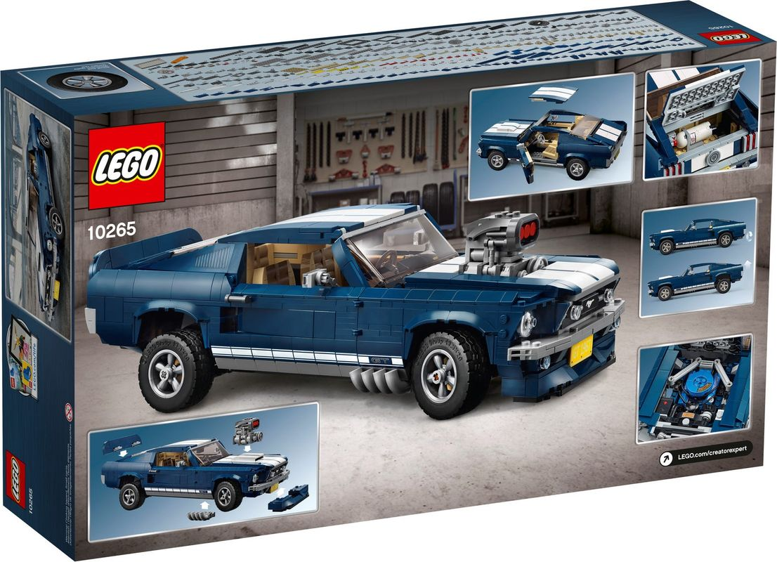 Ford Mustang back of the box