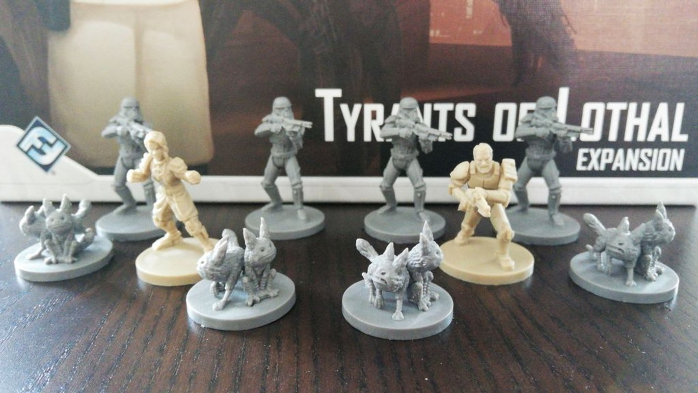Star Wars: Imperial Assault - Tyrants of Lothal miniatures