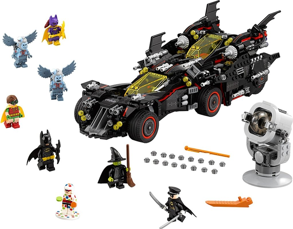 The Ultimate Batmobile components