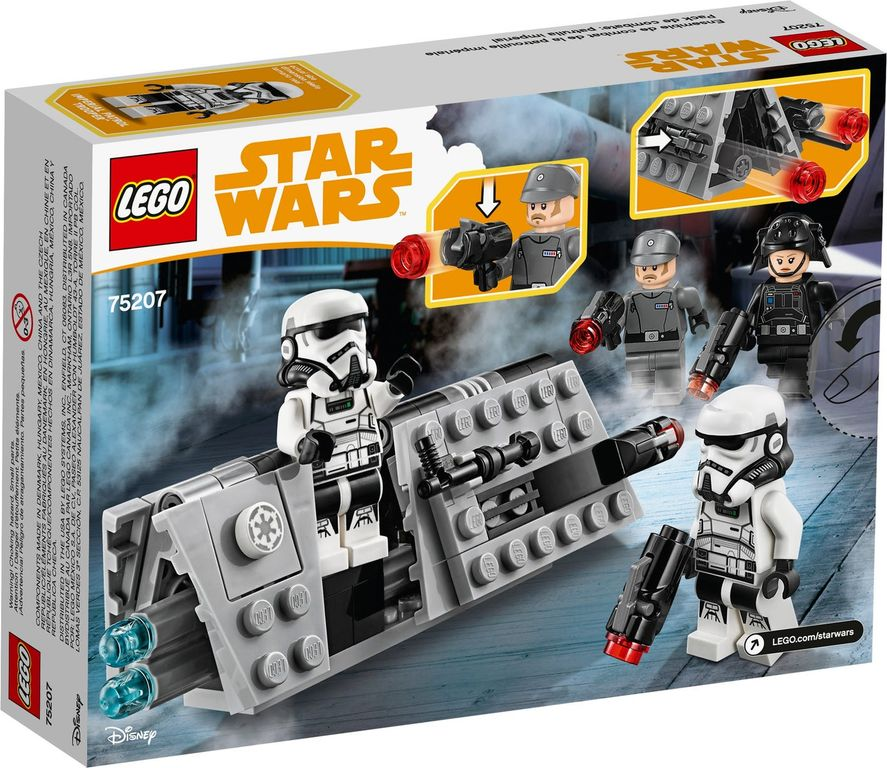 LEGO® Star Wars Imperial Patrol Battle Pack back of the box