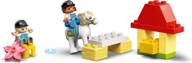 LEGO® DUPLO® Horse Stable and Pony Care components