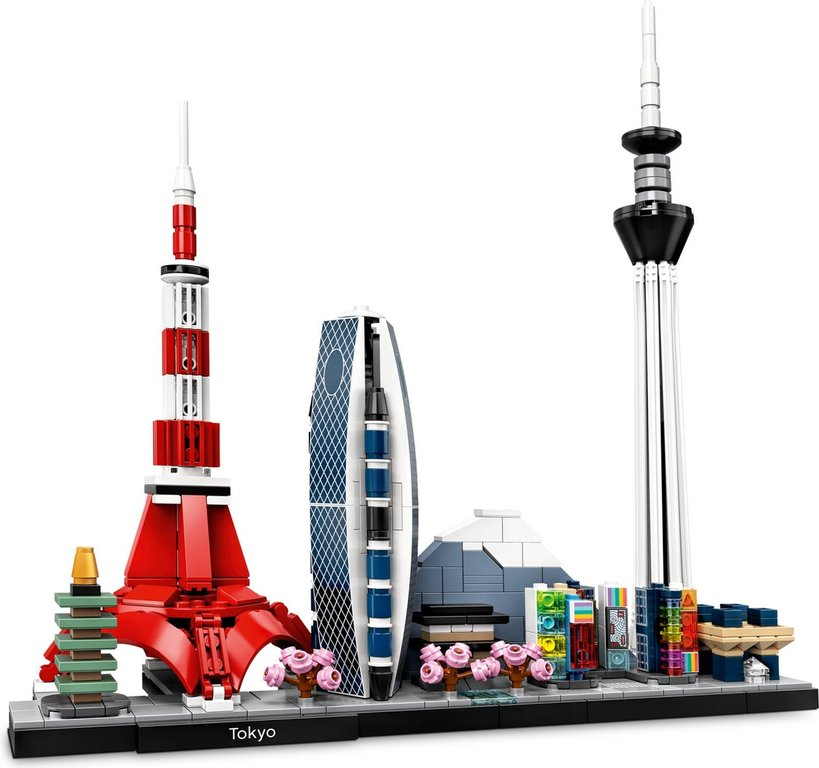 LEGO® Architecture Tokyo components